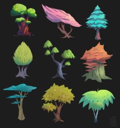 Stylized Trees by YogFingers