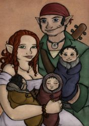 The Thorn family portrait by EmiliAlys