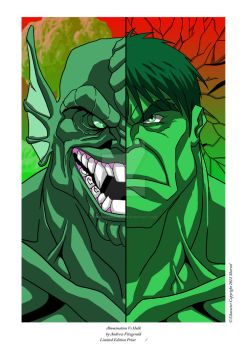 Abomination Vs Hulk - Andrew Fitzgerald Print by comics2movies