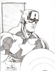 FREE SKETCH Captain America by thejeremydale