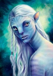 Albino Na'vi by mayan-art