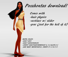 {MMD DOWNLOAD} Pocahontas by MariCorsair