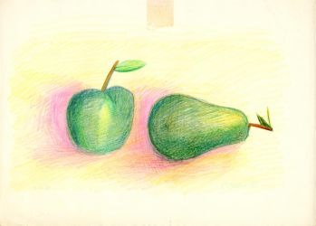 Apple And Pear by christopherhester