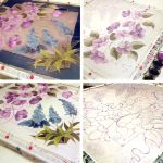 Silk Scarf Muscari and Morning Glory - Painting! by MinkuLul