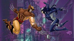 Wolverine VS All New Wolverine 2017 COLORED by LucasAckerman