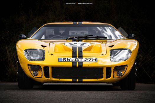 Yellow GT40 by AmericanMuscle