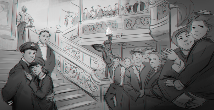 Titanic Sketch by FallonBeaumont