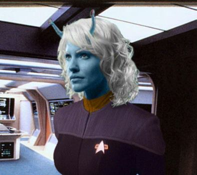 Andorian gold girl by ChaseTruth