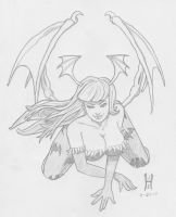 Morrigan Pencils by TheGreenCount