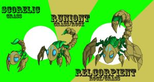 Ancient Grass Starter Pokemon by M60-Carnifex