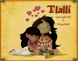 Mayahuel and Quetzalcoatl (minis) by Chrissyissypoo19