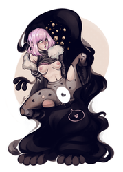 Ev and Monster by AShiori-chan