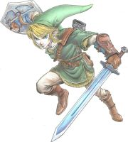 Link - Colored pencil by Osakahime