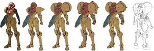 Metroid Samus Aran suit design by torokun
