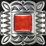 Amerindian Navajo Decal Badge with Red Coral by LilipilySpirit