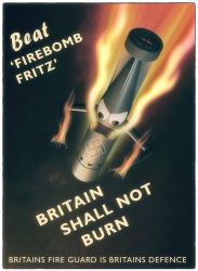 Wartime poster reproduction by Small-Brown-Dog