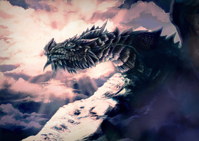 Paarthurnax by SpaceSmilodon