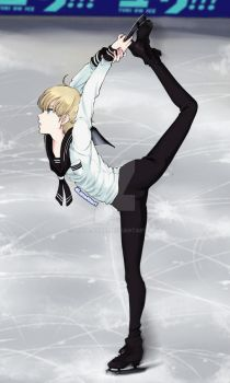 Yuri on Ice - Biellmann Spin by Luna-Akari