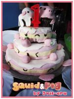 Anniversary Cake by Aru by SquidPig