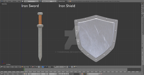 Iron Sword and Iron Shield by Thorion88