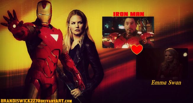Iron Man and Emma Swan wallpaper by BrandiSwick227