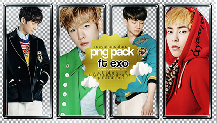 EXO VOGUE Png Pack [032517] by RoxyNeonColors