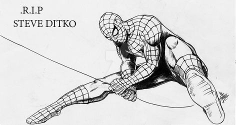 Spider Man drawn as part of Daily sketch challenge by mrinal-rai