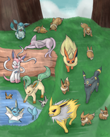 Eeveelutions by RioDiGennaio