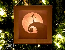 Nightmare Before Christmas Paper Lightbox Ornament by studioofmm