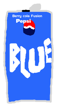 Pepsi Blue soda can by PikachuxAsh