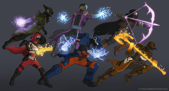 Destiny: Fireteam Characters by EtyrnalOne