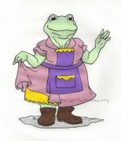Commish - Queen Toad, for Toad Hill Farm by rachelillustrates