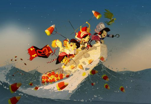 The miraculous candy corn fishing trip by PascalCampion
