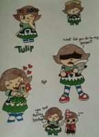 Tulip doodles by RaymanGirl6