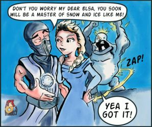 I got this (Elsa and Subzero) by RobertNat