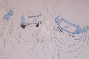 ''We're back..'' Naruto Uzumaki and Sasuke Uchiha by SakakiTheMastermind