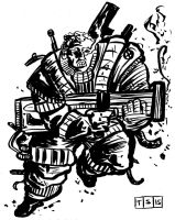 Cable Ink Sketch by sedani