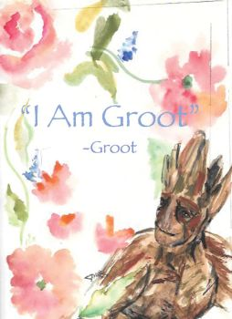 I am Groot by paintingmyheartred