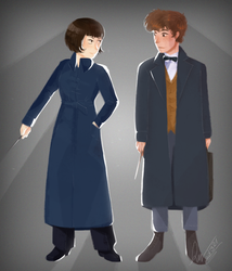 Newt and Tina from ''Fantastic Beasts'' by ad321