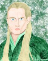 Legolas Portrait-colour by TwilightFalcon