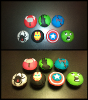 Avengers cupcakes by GoreChick