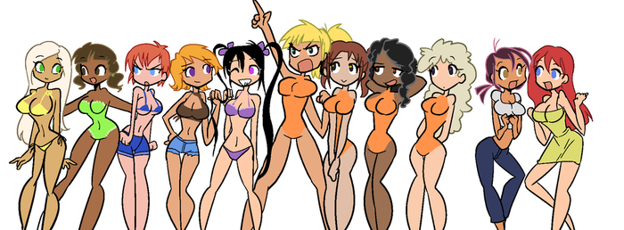 Naked beach girls by EZstrongs