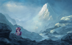 Rarity's search - Commission by aJVL