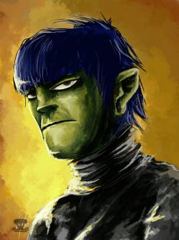 Murdoc sketchy by 13cupcakes