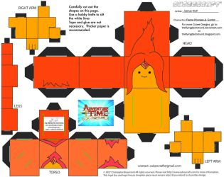 CE4: Flame Princess and Gunter Cubees by TheFlyingDachshund