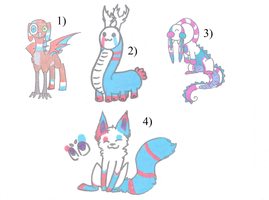 More Random Adopts (3/4 OPEN) by RedAdopts