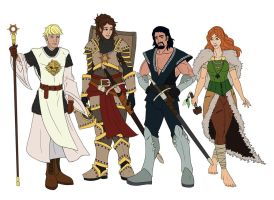 Dungeons and Dragons Party simple colors by CandyKappa