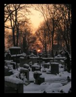 Cemetery And Sundown by Atael
