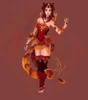 Lina Design - Sunset Phoenix by Ethlenrain
