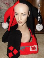 Harley Quinn Hooded Scarf by beet17